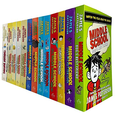 James Patterson Middle School and Treasure Hunters Collection 13 Books Set