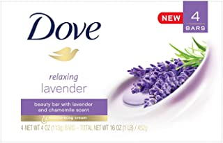 Dove Relaxing Lavender & chamomile scent Beauty Bar 4oz x 4 bars, pack of 1