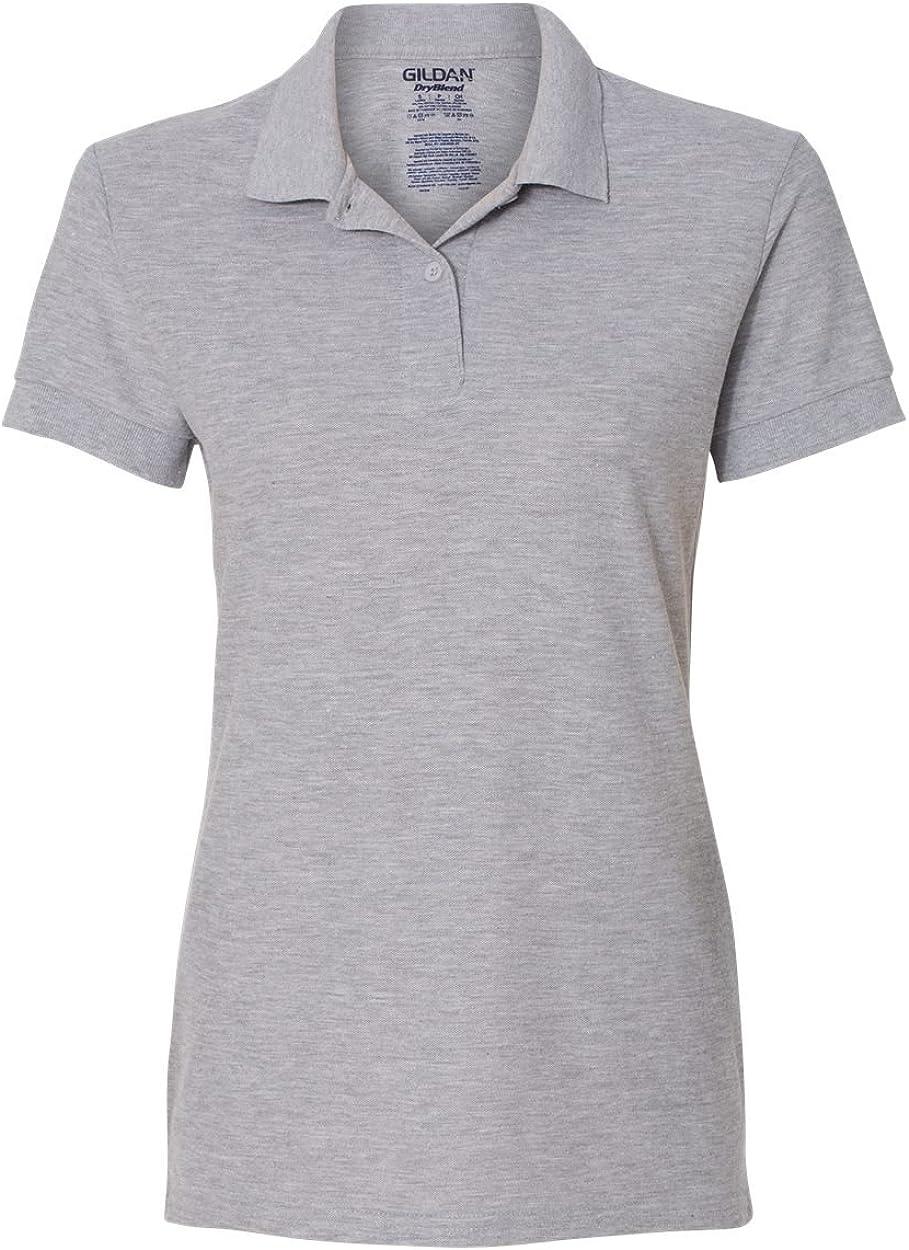 Gildan Womens DryBlend 6.3 oz. Double Piqu? Sport Shirt (G728L) -SPORT GREY -L