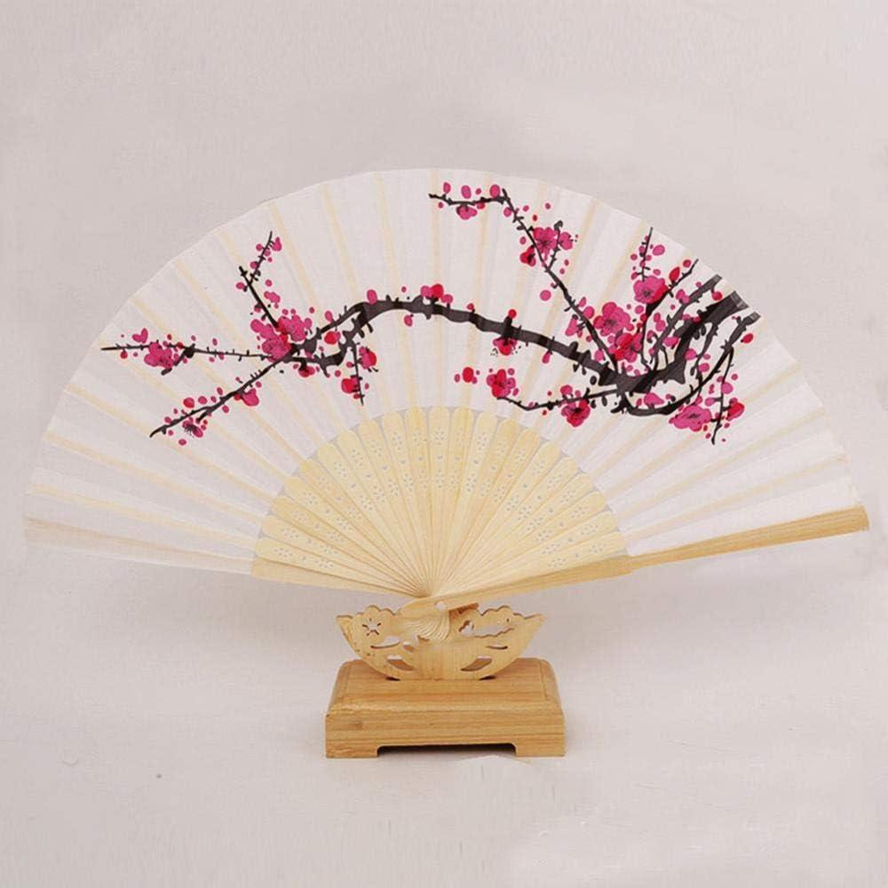 ZER 15,2 cm Pliable en Soie Prune Cadeau de Mariage en Bambou 1