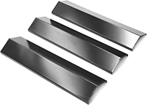 Grill Heat Plates for Brinkmann 810-3660-S, 810-2511-S, 810-2512-S Replacement Parts, Heat Tent Shield for Uniflame, Backyard Grill, Aussie, 3-Pack 15 3/8 inch Porcelain Steel Flame Tamer PPB311