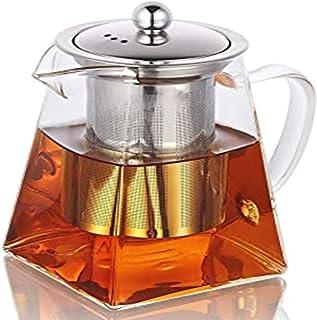 TIAN BORUiティーポット 耐熱ガラス 350ml 急須 ガラスティーポット 茶こし ガラス 紅茶ポッ午後のお茶の泡器ト ブランド