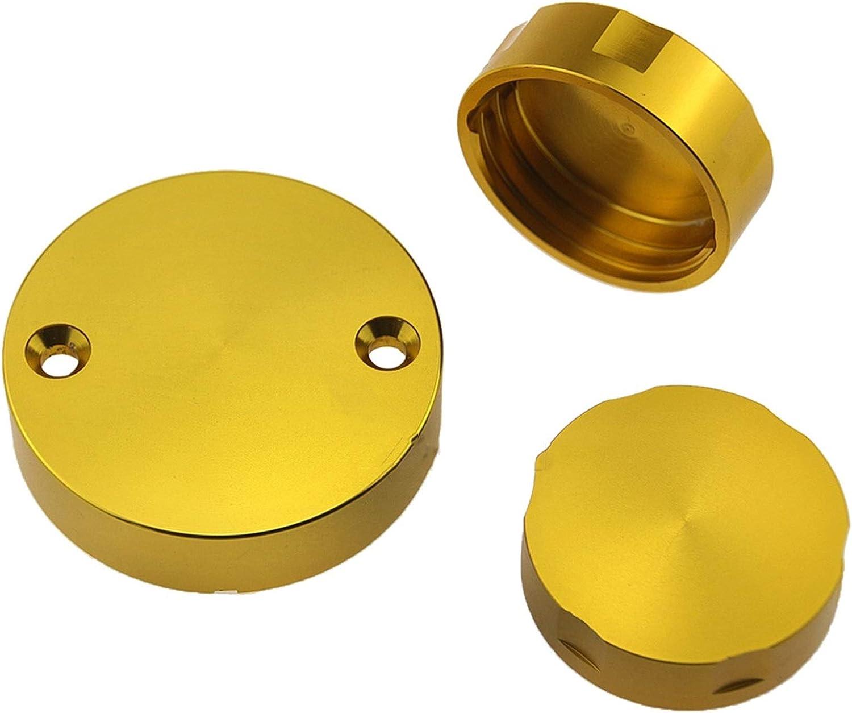 Color : Golden BGGZZG CNC Freno Delantero y Embrague Reservo de Freno Trasero Cubierta//Ajuste para Ducati 1299 1199 1198 1098 959 899 848 Papa de Aceite de la Motocicleta