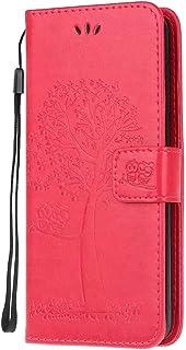 Etui Samsung Galaxy S22, odporne na wstrząsy skóra PU otwierane etui na telefony wytłaczane sowa drzewo miękkie TPU osłona...