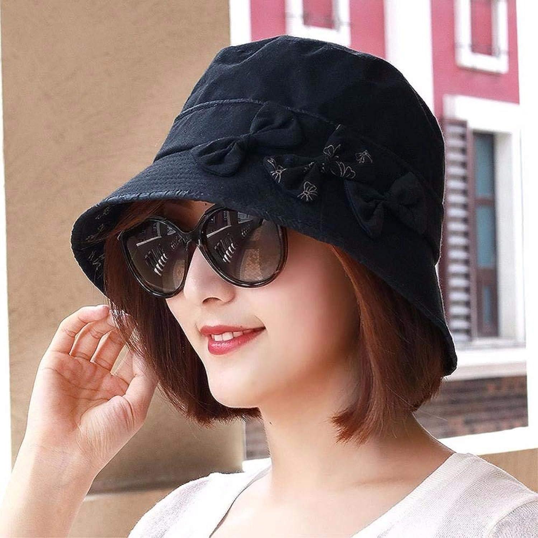 Dianye Hat the girl pack edge Bow Tie basin cap, bald cap hat elderly cap pregnant mother breathable