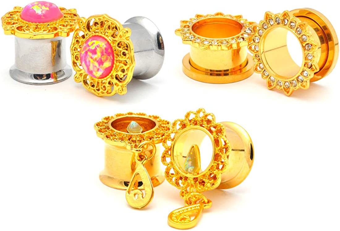 Mystic Metals Body Jewelry Set of Gold Pairs 3 Fa New products, world's highest quality popular! Cheap mail order shopping Assorted Steel
