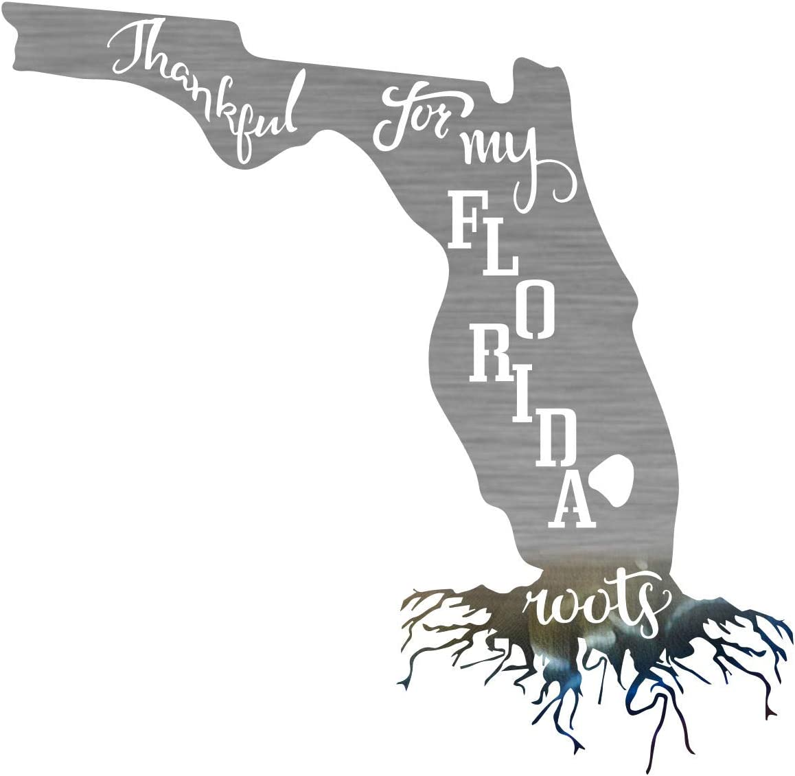 Florida Roots Outdoor Steel Max 69% OFF Laser Cut Natura Art in Shiny Wall a Free shipping on posting reviews