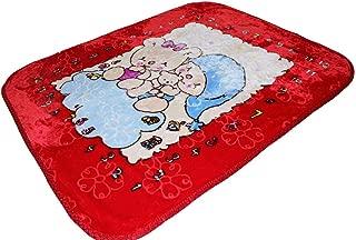 AVI Soft Cartoon Single Mink Blanket (Red)