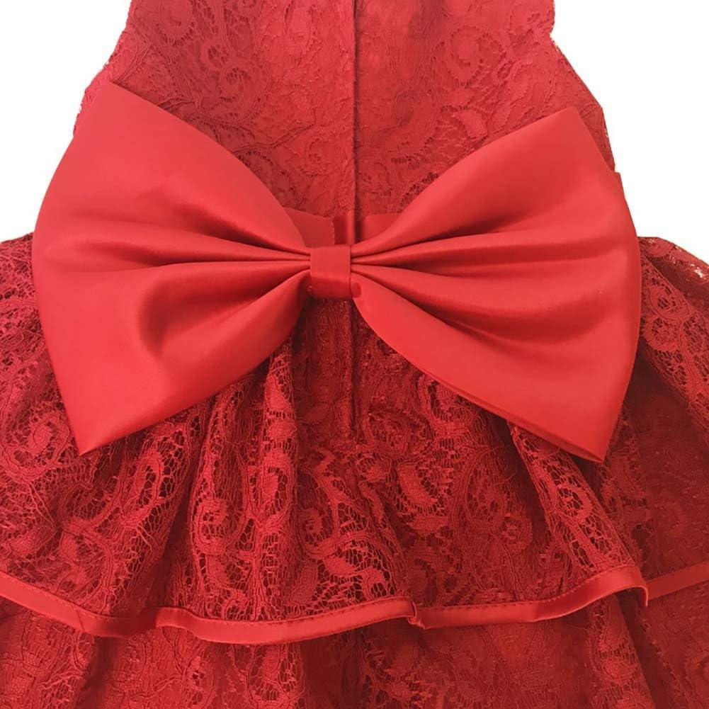 IMEKIS Robe de princesse en dentelle avec tutu et n/œud papillon pour nouveau-n/é bapt/ême Pour f/ête bal anniversaire mariage vacances