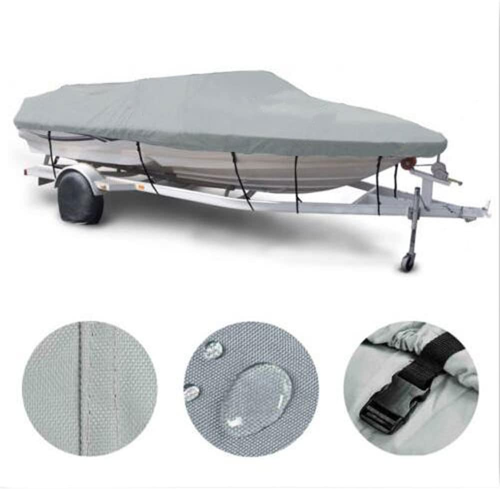 MOTOOS 16-18Ft Boat Cover Heavy Duty 600D Oxford Fabric Waterpro