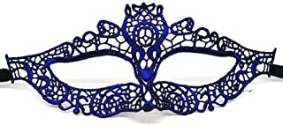 Vivi&2annie Good-Looking 1pc Luxury Women's Lace Eye Face Mask for Masquerade Halloween Decor in fine Style(None Blue)