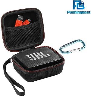 Pushingbest EVA Coque de protection boîte de protection pour JBL Go 2, JBL GO 2 Haut-parleur Bluetooth, Mesh Pocket pour C...