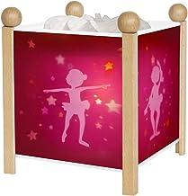 Trousselier - Ballerina - nachtlampje - magische lantaarn - ideaal geboortegeschenk - kleur hout natuur - geanimeerde afbe...