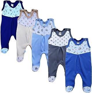 MEA BABY Unisex Strampler mit Aufdruck, Baumwolle, 5er Pack. Baby Strampler Mädchen Baby Strampler Junge