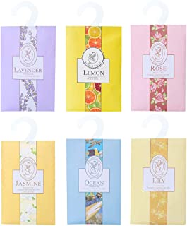 TINKSKY 香り袋 サシェ 30枚セット 花の香り ルームフレグランス 車内用 玄関用 部屋用 着物用 芳香剤(6種類の香り)