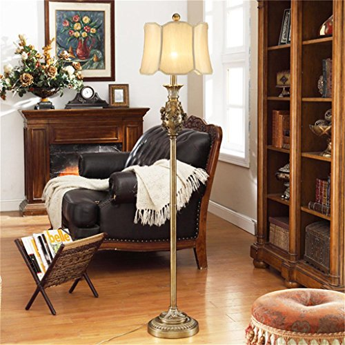 Wvfguj Wandlamp voor binnen Staande lamp European - Style Retro vloerlamp Landelijk Idyllisch Woonkamer Slaapkamer bedlampje Creative Vertical tafellamp