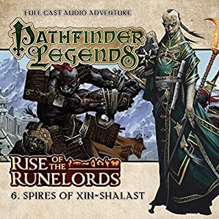 Pathfinder Legends - Rise of the Runelords 1.6 Spires of Xin-Shalast                   By:                                                                                                                                 Cavan Scott                               Narrated by:                                                                                                                                 Ian Brooker,                                                                                        Trevor Littledale,                                                                                        Stewart Alexander,                   and others                 Length: 1 hr and 8 mins     1 rating     Overall 5.0