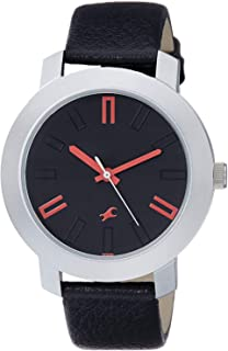 Fastrack Casual Watch for Men, Analog, Leather, 3120SL02