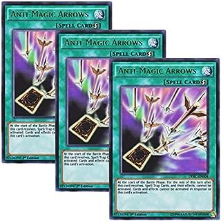 Yu-Gi-Oh! 【3 Pieces Set】 English Version DPBC-EN004 Anti-Magic Arrows Sei no Uta (Ultra Rare) 1st Edition