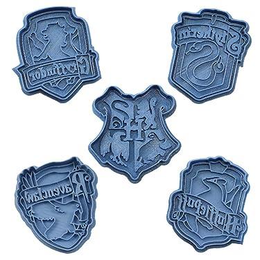 Cuticuter Hogwarts Harry Potter Pack Cookie Cutter, Blue, 16x 14x 1.5cm, Pack of 5