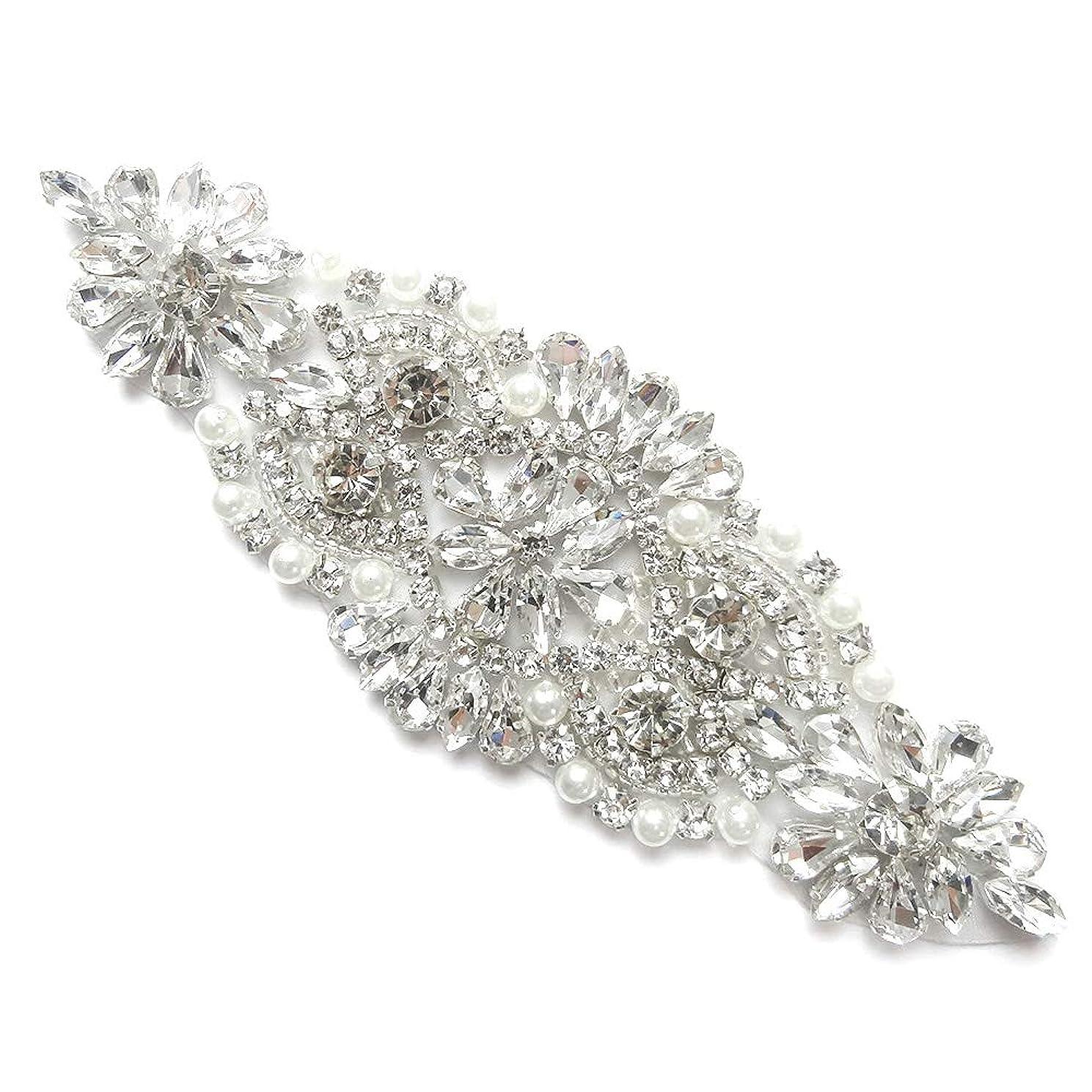 HeMiaor Exquisite Bridemaid Rhinestone Sashes Bridal Belt Sash Crystal Wedding Sash Belt
