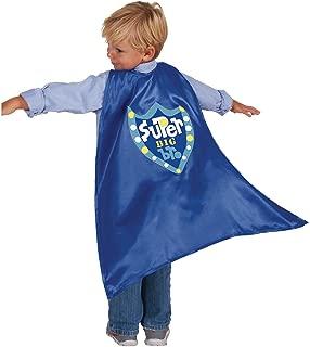 C.R. Gibson Blue 'Big Brother' Superhero Cape Children's Costume, 3pc, 22'' L