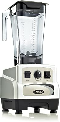 Omega BL460S 3 Peak Horse Power Commercial Blender Variable Speed with Pulse, 64-Ounce, Silver