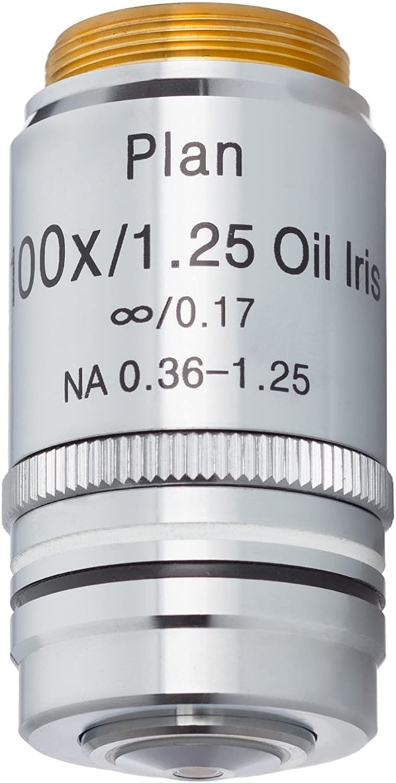 Amscope 100x (l) infinity-corrected Darkfield Mikroskop Plan Ziel W Iris