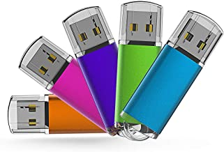 8G USB Flash Drive 5 Pack Easy-Storage Memory Stick K&ZZ Thumb Drives Gig Stick USB2.0 Pen Drive for Fold Digital Data Storage, Zip Drive, Jump Drive, Flash Stick, Mixed Colors