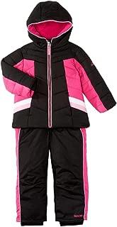 Pacific Trail Infant & Toddler Girls Pink & Black Snowsuit Ski Bibs & Coat Set