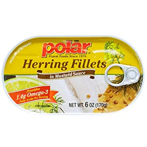 MW polar Herring Fillets in Mustard Sauce, 6 Ounce (Pack of 14)