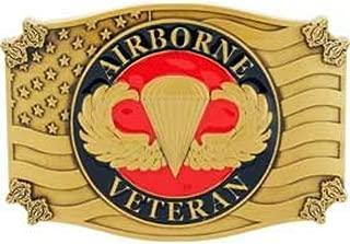 U.S. Army Airborne Veteran Belt Buckle Enamel