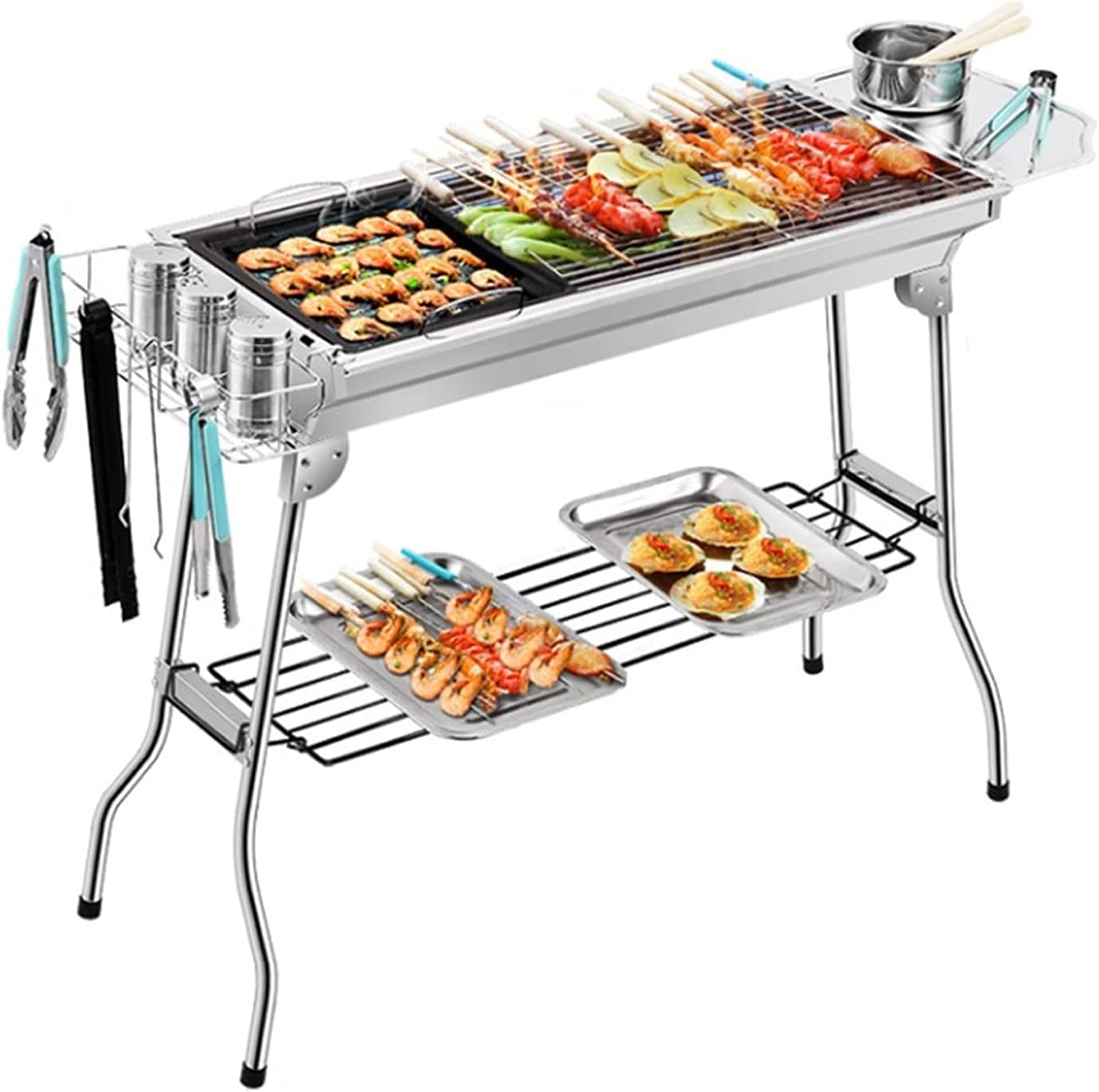 Portable Charcoal Popular products Grill Thick Stainless Field Outdoo Steel New products world's highest quality popular