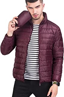 Wxian Men's Fashion Solid Color Lightweight Slim Fit Comfortable Down Jacket