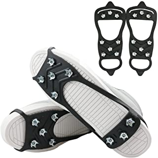 featured product 1 Pair of 8 Steel Studs Anti Slip Ice Snow Grips Crampons Women Men Ice Spikers Grippers Walk Traction Cleats Spikers Ice Traction Slip on Boots Shoes
