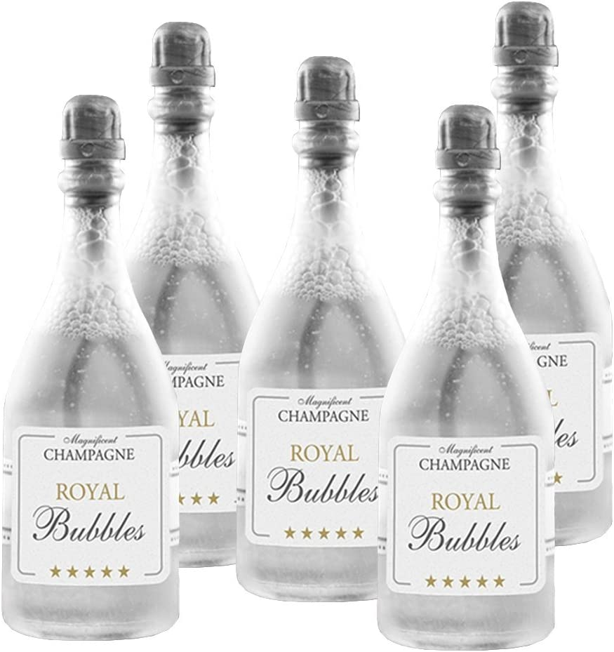 Conjunto de 24 botellas de champán para pompas de jabón para invitados de boda