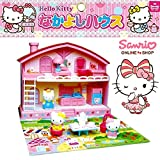 Hello Kitty 2-story play house Toy Dolls and furniture play sets