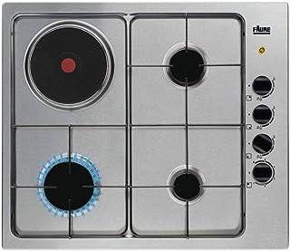 Plaque mixte Faure FGM64300X - Plaque de cuisson 4 foyers