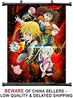 The Seven Deadly Sins Anime Fabric Wall Scroll Poster (32x45) Inches