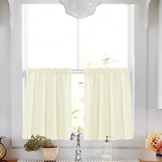 Off White Tier Curtains for Kitchen 24