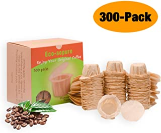 Eco-sopure Disposable Paper Filters with Lid for Reusable K Cups,Fits All Keurig Single Serve Filter Brands (300)