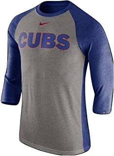 chicago cubs 3 4 sleeve shirt