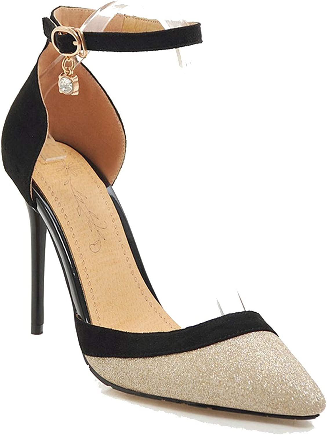 Pumps Women shoes Mixed colors Summer shoes Buckle Sexy high Heels shoes Elegant Wedding shoes gold,13