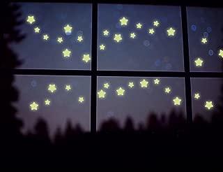 BIBITIME 38 Pcs DIY Glow in the Dark Luminous Florescent Light Stars Wall Decals Stickers Murals Home Art Decor for Kids Babys Bedroom Living Room Study Room