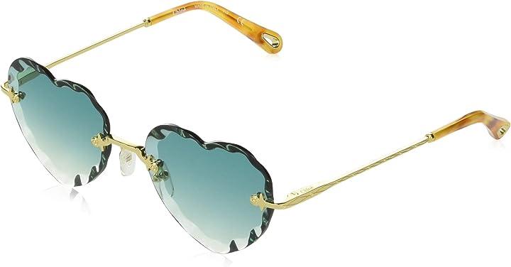 Occhiali da sole a forma di cuore chloé ce150s, occhiali donna