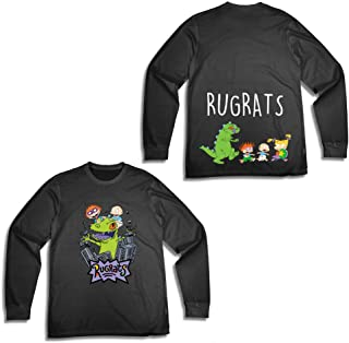 Mens Long Sleeve Shirt - #TBT Mens 1990's Clothing - Rugrats, Hey Arnold, Ren and Stimpy