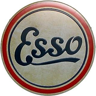 Esso Cartel de Chapa de Metal Vintage Garaje Oficina Club Bar Pared Art Deco Cafe Shop Inicio Pintura de Metal Decoración de Taberna