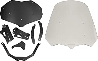 Triumph Tiger 800 (2011-2017) Compatible - Adjustable Windshield System by Madstad Engineering (18, Medium Gray)