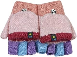Nouveau m/&s filles tricot Chapeau /& Gants Kit Rose violet 18-36 Mois Enfants Hiver