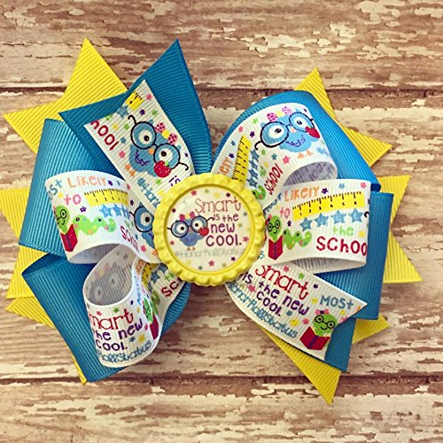 Pre-School Hair Bows for Girls 1st Day of School Hair Bows Kindergarten Hair Bows School Hair Bows Back to School Little Girl Hair Bows